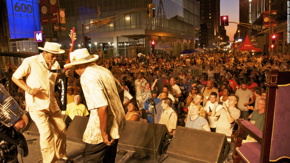 "This year, Soldier's Memorial Park in St. Louis will host the Bluesweek Festival, free from Friday to Sunday, with performances by over 50 musicians, including local blues legend Arthur Williams. <a href=""http://www.budgettravel.com/slideshow/photos-12-memorial-day-getaways,7260/?cnn=yes "" target=""_blank"">See more photos at BudgetTravel.com</a>."