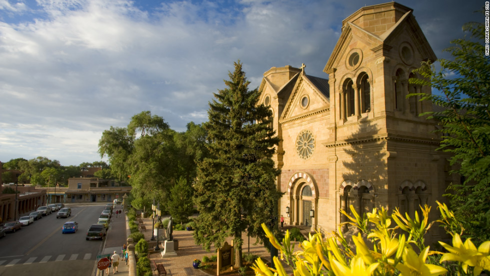 The first church was built on the site of the Cathedral Basilica of St. Francis in 1610, the year Santa Fe was founded. The original adobe church is long gone. The current cathedral in the French Romanesque style was completed in 1887.