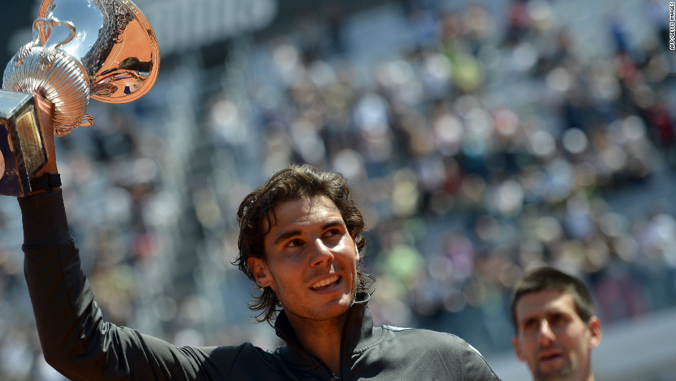 Nadal has won eight singles titles on the clay courts of both Monte Carlo and Barcelona, as well as seven in Rome -- all of which are tournament records.