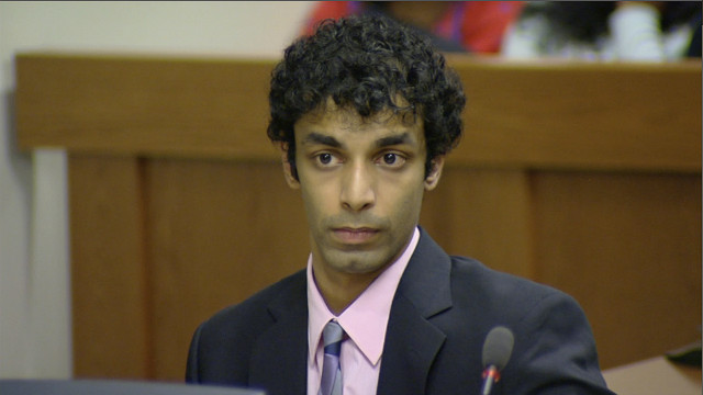 Dharun Ravi is seen at his trial on May 21. He says he will submit to his jail sentence on Thursday.