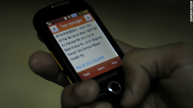 A message referring to the blocked Twitter site.