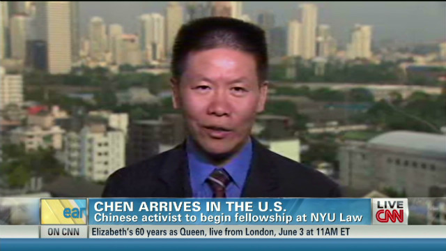 Chen Guangchang is in the U.S.