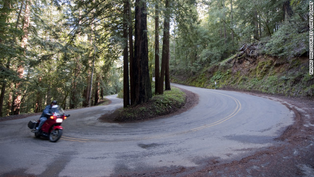 Smooth pavement with plenty of twists makes for great riding.