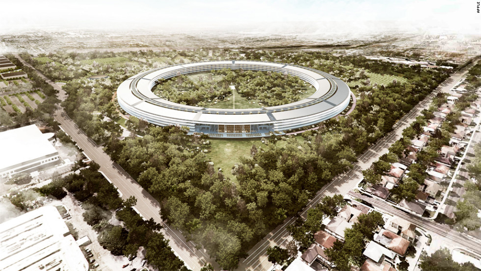 Apples new spaceship campus What will the neighbors say  CNNcom