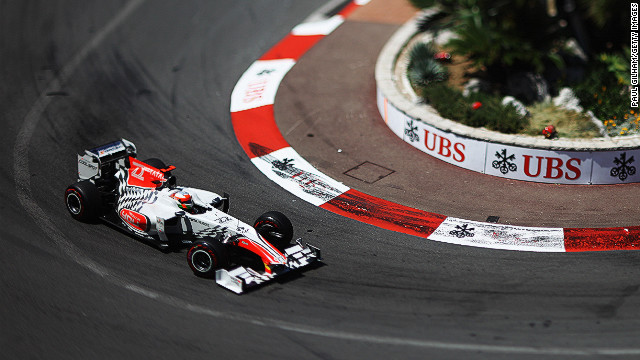 Narain Karthikeyan of India and Hispania Racing Team drives during the Monaco Formula One Grand Prix at the Monte Carlo Circuit on May 29, 2011 in Monte Carlo, Monaco. (Photo by Paul Gilham/Getty Images)