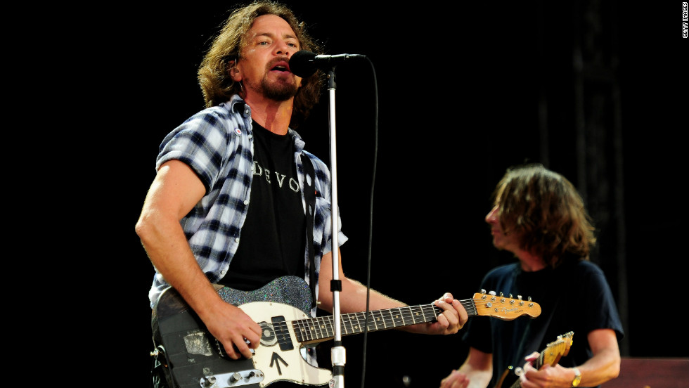 Born in the Chicago suburb of Evanston, Eddie Vedder moved with his family to southern California, where he eventually began singing and writing lyrics. In 1990, the newly-formed band Pearl Jam -- including Jeff Ament, Stone Gossard and Mike McCready -- heard Vedder's demo tape and invited him to join as lead singer. Pearl Jam went on to sell 60 million albums and win a Grammy Award in 1996 for Best Hard Rock Performance.
