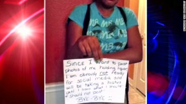 Mom punishes daughter with Facebook pic