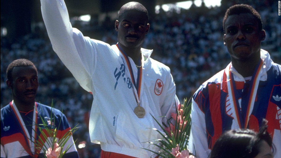 For Johnson it was the pinnacle of a life's work. But it was not to last long as a South Korean journalist broke the story that Johnson had failed a drugs test after traces of the anabolic steroid Stanozolol were detected. Johnson was stripped of his medal, his record and his title from the previous year's World Championship. Lewis was handed the gold, Christie the silver and Calvin Smith the bronze.