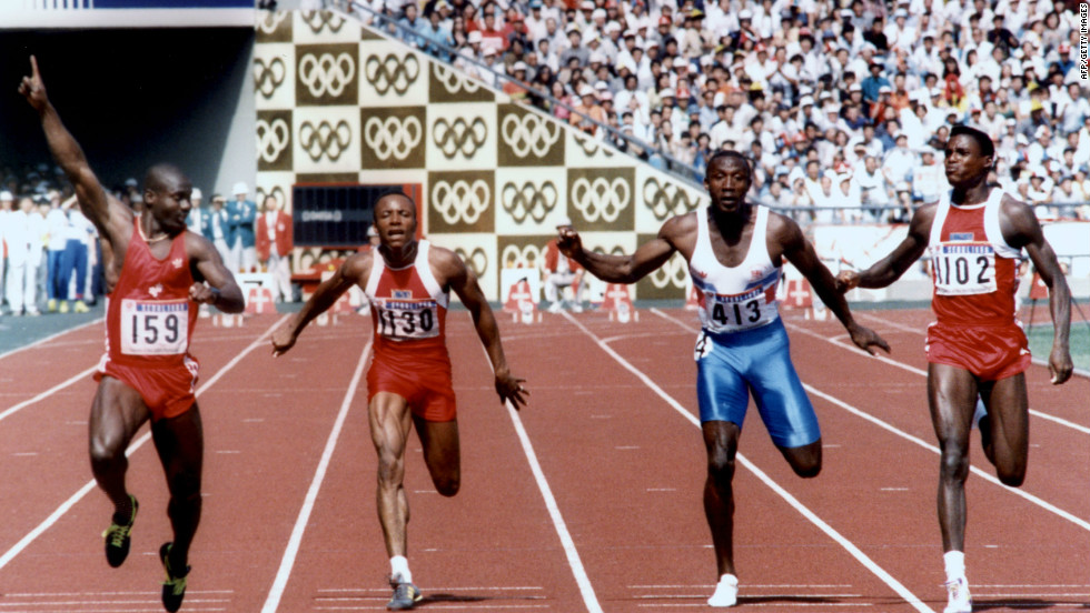 Johnson had already beaten Lewis four times the year before, and set a new world record at the World Championships in Rome. He was also renowned for having the fastest start on the track. The world watched in awe as Johnson exploded out of the blocks.