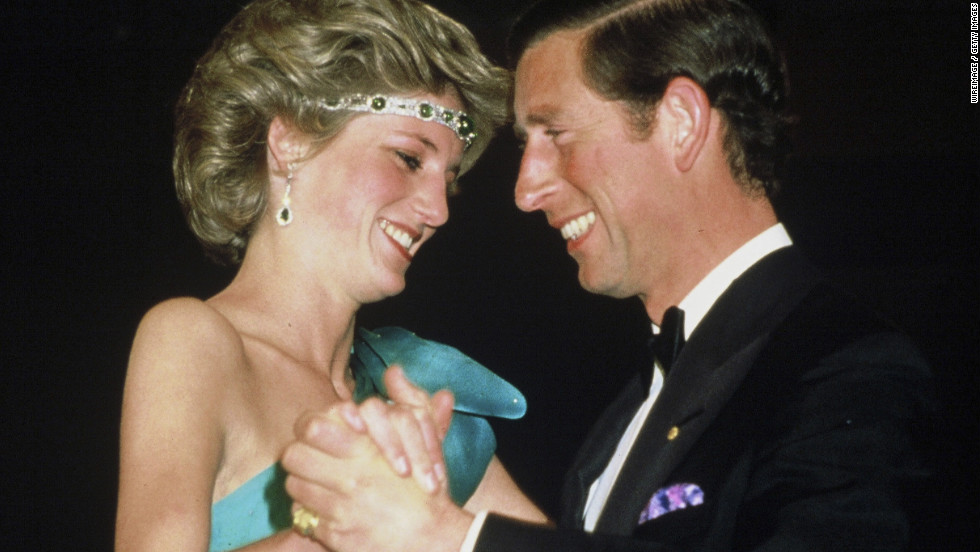 Prince Charles and Diana, Princess of Wales, dance in Melbourne, Australia, in 1985.