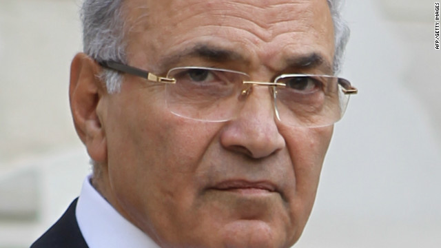 Egyptian Prime Minister Ahmed Shafik  in Cairo on February, 2011