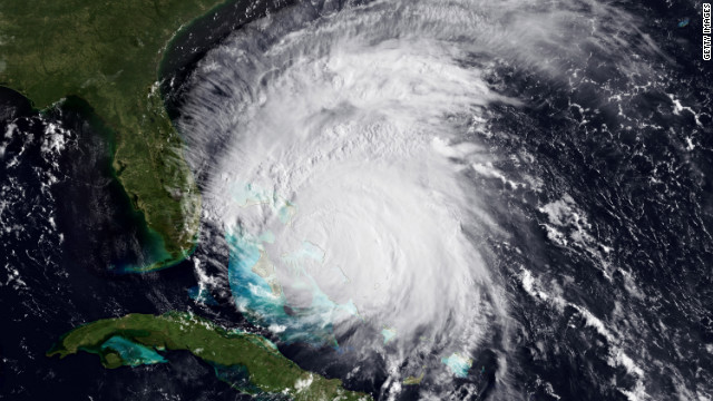 A satellite picture from August 25, 2011, shows Hurricane Irene over the Caribbean.