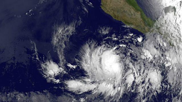 Hurricane Bud moving toward Mexico
