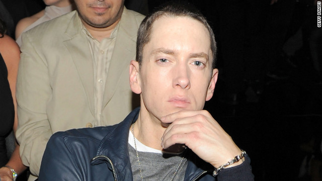 Eminem is shown attending the 53rd Annual GRAMMY Awards in 2011.