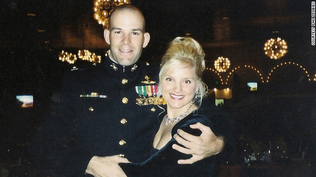 Maj. Doug Zembiec and his wife Pam attend the Marine Corps Ball in 2003. He was killed in 2007.