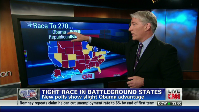 Tight race in battle ground states