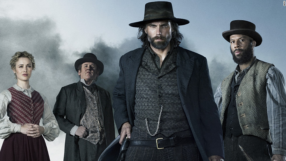 The second season will see former Confederate soldier Cullen Bohannon (Anson Mount, center) move West as he tries to gain distance from his past. Dominique McElligott, Colm Meaney and Common also star.