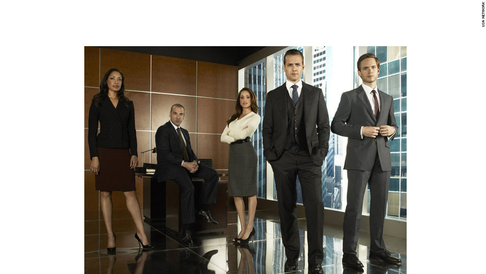 If you missed out on this series in its first season last summer, now's your chance to catch up with the perfectly matched team of legal pro Harvey (Gabriel Macht, second from right) and newcomer on the run, Mike (Patrick Adams, right). Gina Torres, far left, Rick Hoffmann and Meghan Markle also star.