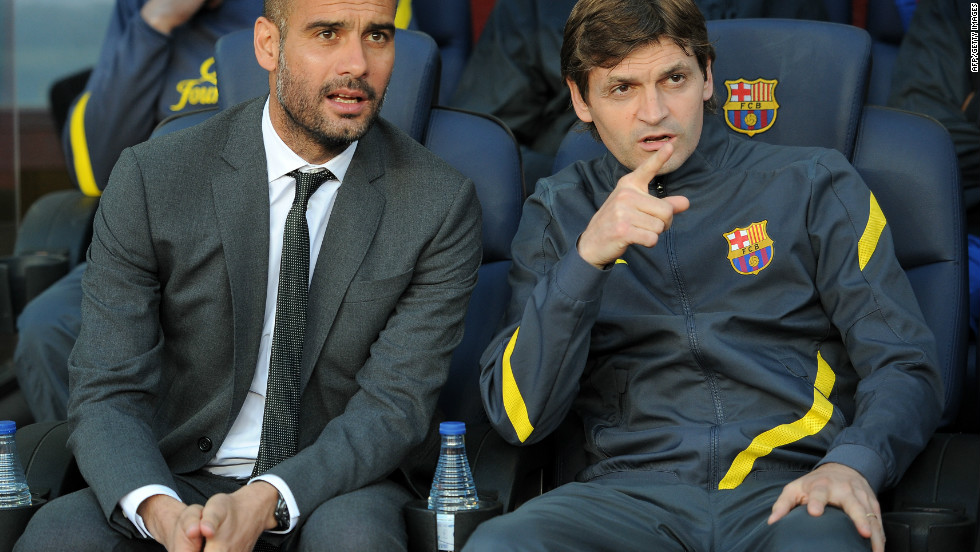 At the press conference to announce Guardiola's departure Barca confirmed his assistant Tito Vilanova would take over as coach. As another disciple of Barcelona's approach, he has a tough task to replicate Guardiola's achievements.