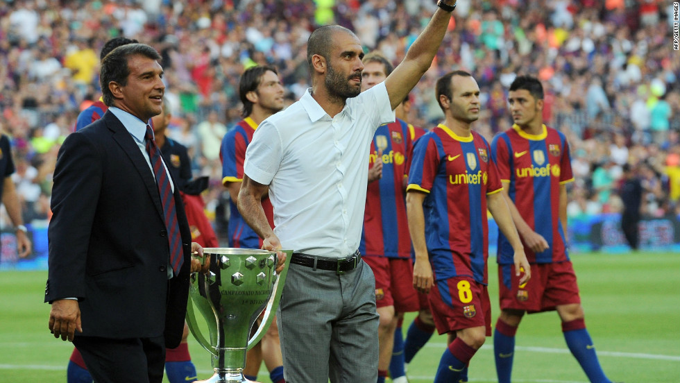 By the time 2009 was out, Barca had added the Spanish Supercup, European Supercup and Club World Cup trophies to their cabinet, making it six won in Guardiola's first season. He also retained the Spanish league title in 2010.