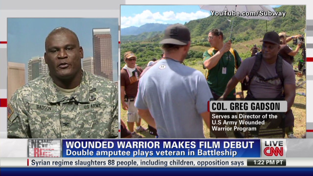 Soldier takes experience to big screen