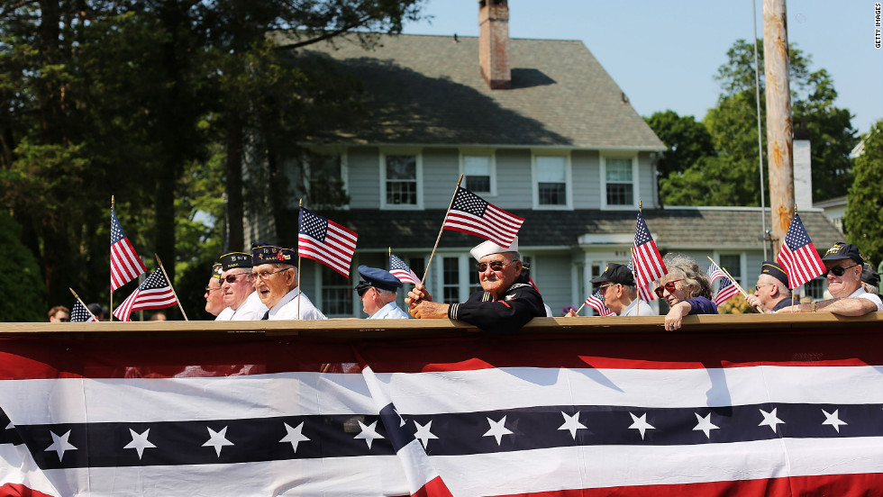 Veterans gathered to celebrate Memorial Day and take part in the parade in Fairfield, Connecticut.