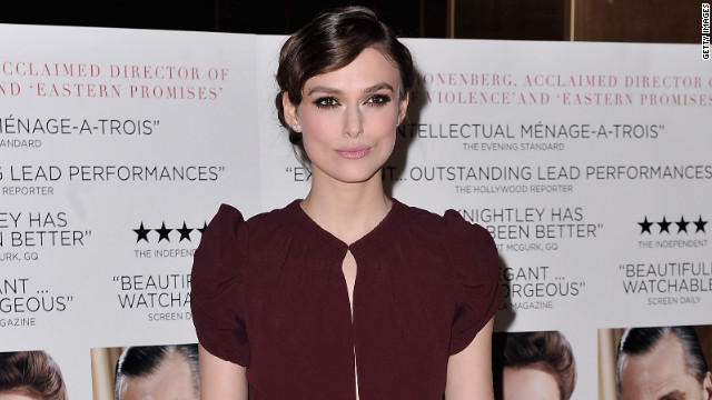 "Keira Knightley attends the film premiere of ""A Dangerous Method"" in January."