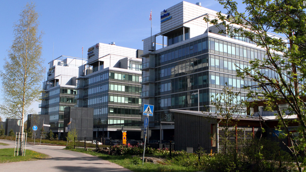 "The headquarters of Rovio, makers of ""Angry Birds,"" sits on an inlet of the Gulf of Finland in a suburb of Helsinki. Rovio occupies four floors of this office building."