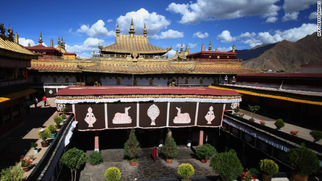 A Tibetan temple. Tibetan doctors think we get sick when our physical, psychological and spiritual well-being are out of balance.