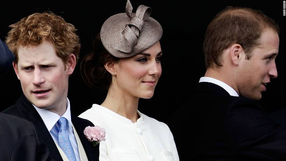 The Derby attracts most of the Royal family, and Princes Harry (L) and William can be seen at last year's race, along with Catherine, Duchess of Cambridge.
