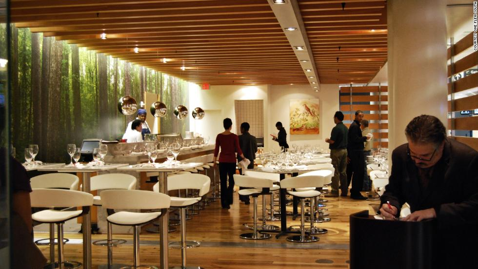 One Flew South is one of the fine dining options at the Atlanta airport, which ranked No. 1 in dining options.