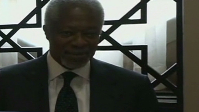 Kofi Annan meets with Syrian president