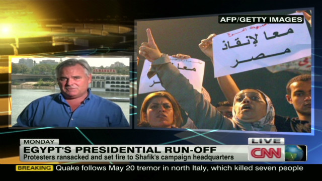 Egypt set for runoff amid protests