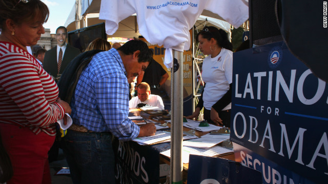 Latinos backed Barack Obama in big numbers in 2008. Critics of new voter ID laws say they could discourage turnout in 2012.