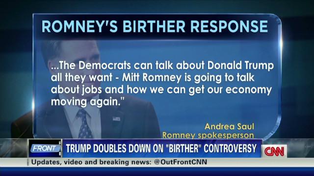 Romney gambles on Trump