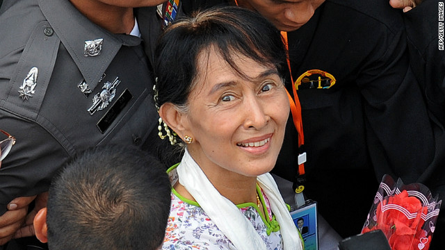 Myanmar opposition leader and pro-democracy campaigner Aung San Suu Kyi spent years under house arrest.