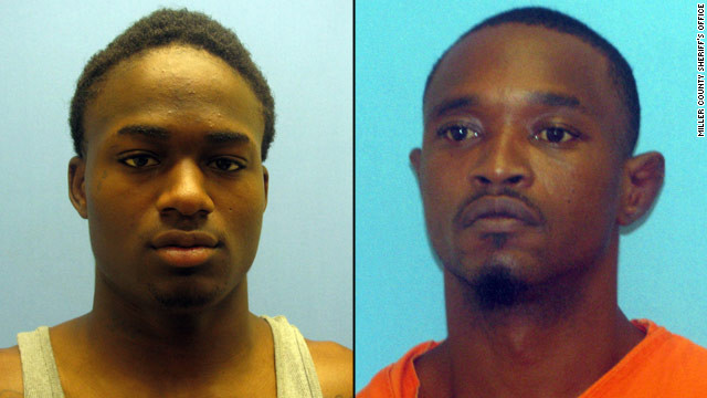 Cortez Rashod Hooper, left, and Quincy Vernard Stewart cut the bars off a small window, authorities say.
