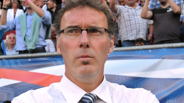 Laurent Blanc has stood down as French coach after their disappointing Euro 2012 exit.