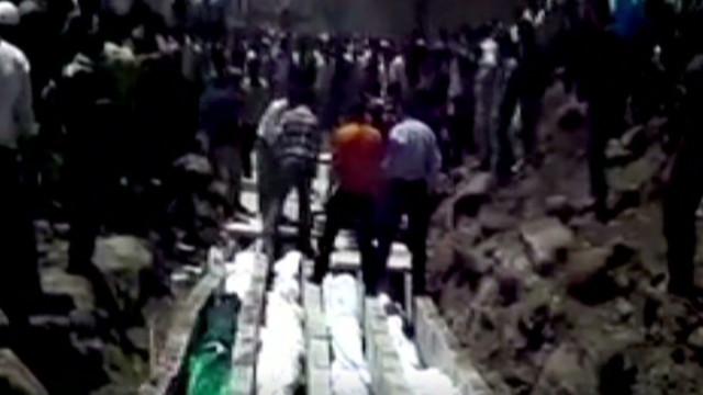 Who shelled, murdered children in Syria?