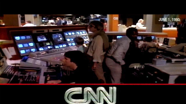 On June 1, 1980, CNN aired its first news broadcast anchored by the husband and wife team of David Walker and Lois Hart.