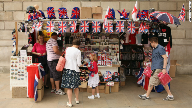 Britain is awash with Union Flags as the country prepares for the queen's jubilee.