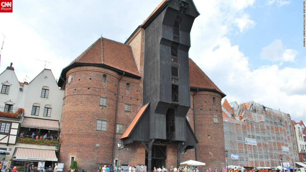 The Zuraw Crane in Gdansk is a hulking testament to the Baltic city's history as a major port and ship building hub, says Monika Sobiechowska. Today however, Gdansk is just as famous for its scenic waterfront boulevards, she adds.