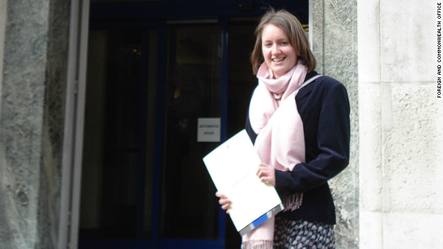 UK Foreign Office issued this image of British aid worker Helen Johnston, who was freed.