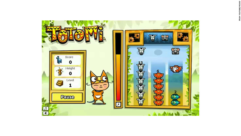 "In Totomi, players drop animals -- zebras, fish and others -- on top of each other to form totem poles. Rovio, based in Finland, nearly went broke before ""Angry Birds"" in 2009."