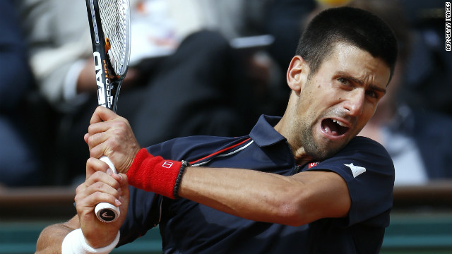 Serbian tennis star Novak Djokovic was relieved after finally overcoming Andreas Seppi at Roland Garros on Sunday.