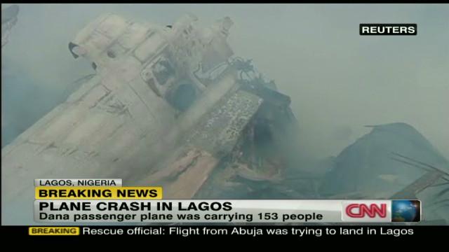 Video shows plane still smoldering