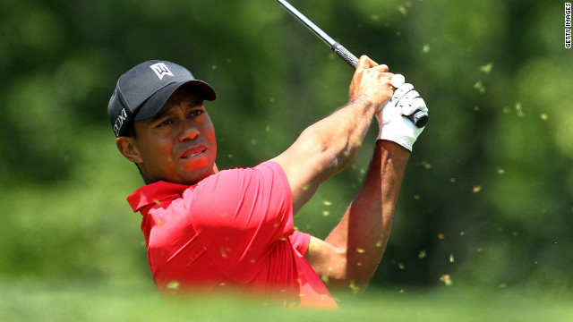 Tiger Woods hits his tee shot on the par 4 3rd hole during the final round of the Memorial Tournament presented by Nationwide Insurance at Muirfield Village Golf Club on June 3, 2012 in Dublin, Ohio