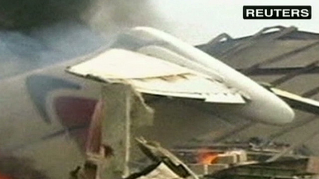 Lagos witness: 'Plane was still burning'