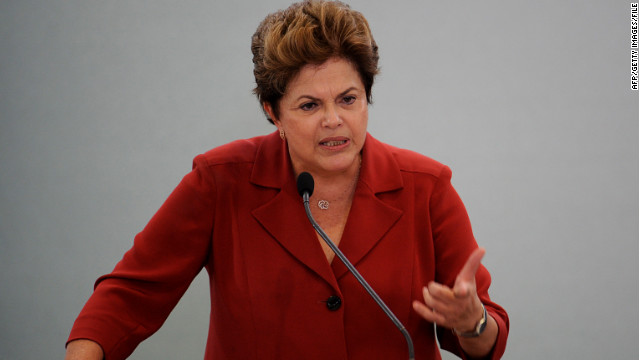 Brazilian President Dilma Rousseff has sworn in a commission that will have two years to investigate abuses.