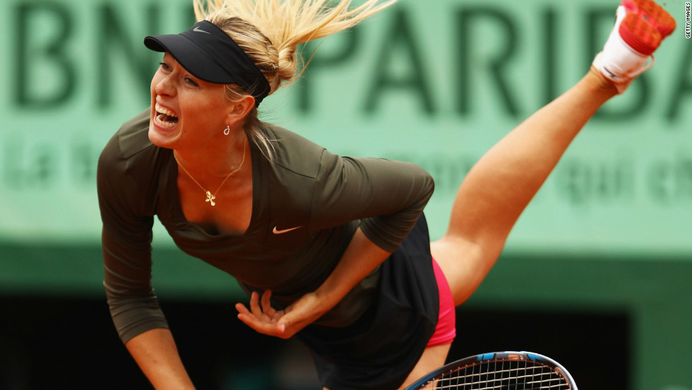 Maria Sharapova struggled with her serve against Klara Zakopalova, but reached the quarterfinals and can become the new world No. 1 by making it to the title match.